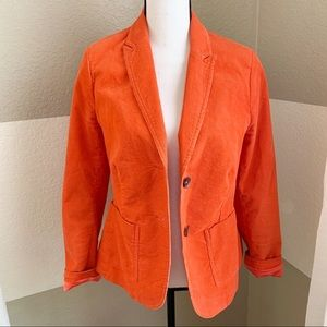 Boden Corduroy Double Button Blazer Orange 8